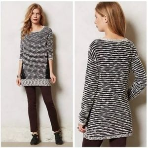 Moth Staccato Tweed Lace Tunic Sweater